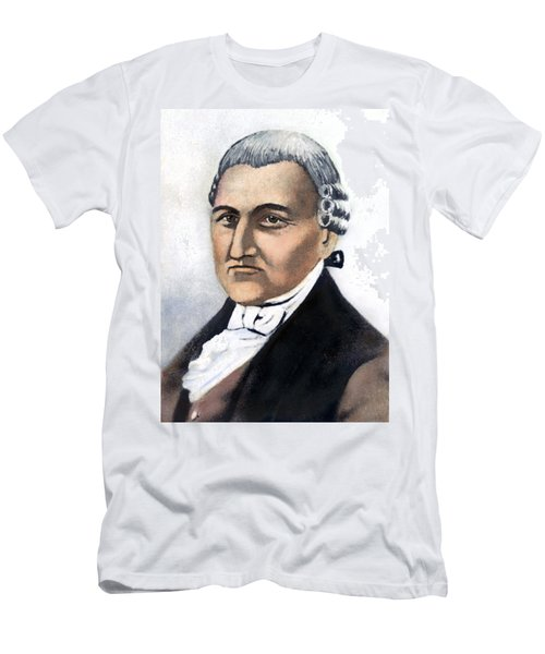Men's T-Shirt (Slim Fit) featuring the painting David Brearley (1745-1790) by Granger