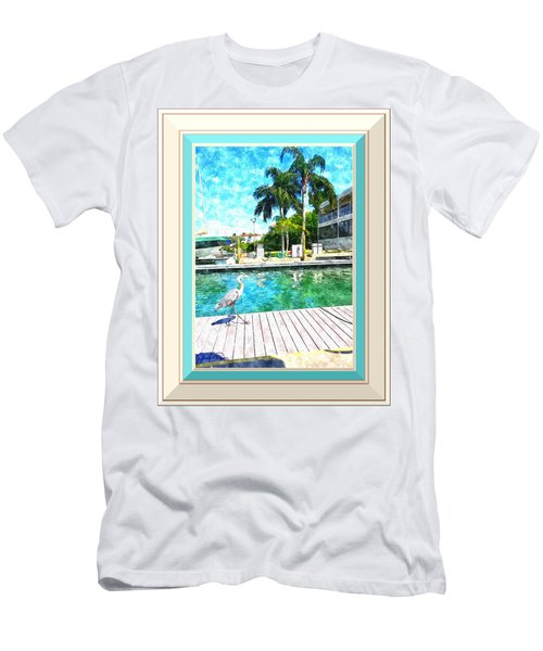 Dry Dock Bird Walk - Digitally Framed Men's T-Shirt (Athletic Fit)