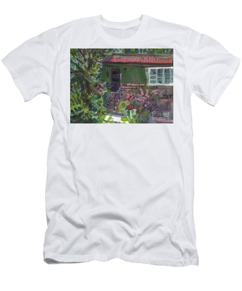 Men's T-Shirt (Slim Fit) featuring the painting Entrance by Donald Maier