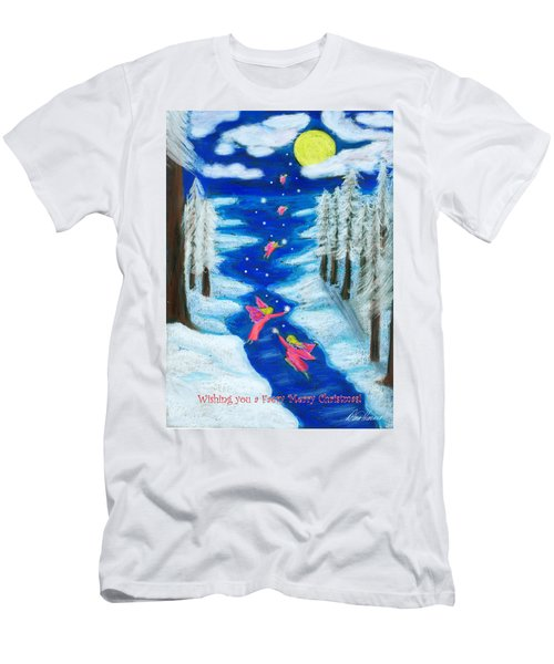 Faery Merry Christmas Men's T-Shirt (Athletic Fit)