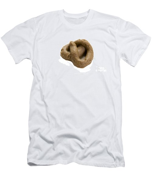 Men's T-Shirt (Slim Fit) featuring the photograph Fake Dog Poop by Lee Avison