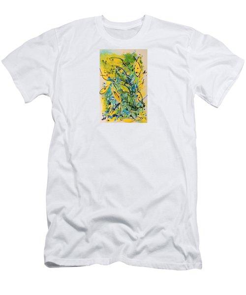 Fish Frenzy Men's T-Shirt (Slim Fit) by Lyn Olsen