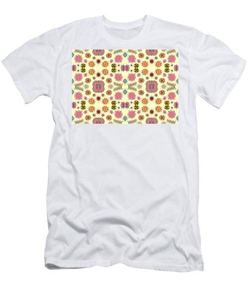 Floral Burst Men's T-Shirt (Athletic Fit)