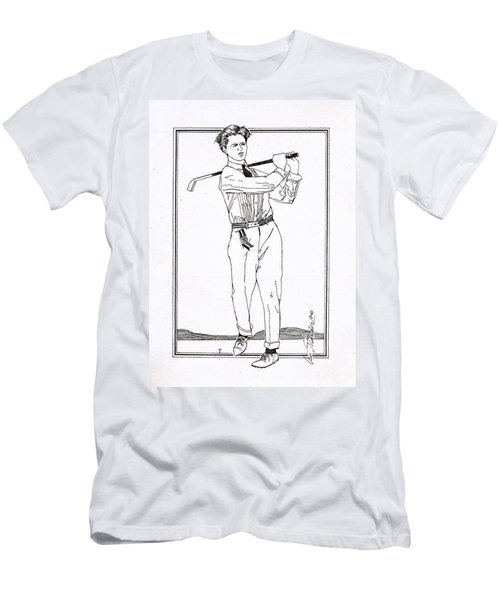 Golfer 1915 Men's T-Shirt (Slim Fit) by Ira Shander
