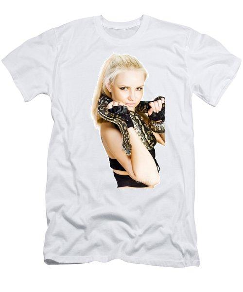 Gorgeous Blonde Snake Handler Men's T-Shirt (Athletic Fit)