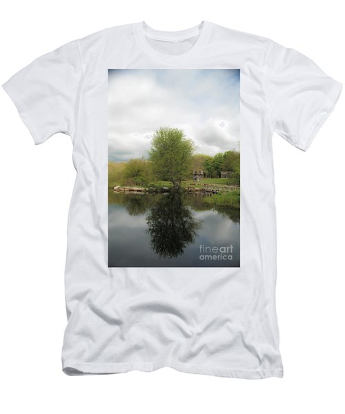 Grays Mill Pond Men's T-Shirt (Slim Fit) by Angela DeFrias