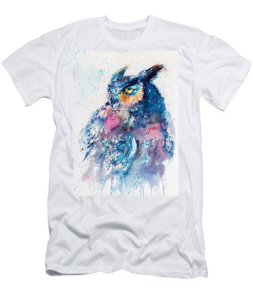 Great Horned Owl Men's T-Shirt (Slim Fit) by Kovacs Anna Brigitta