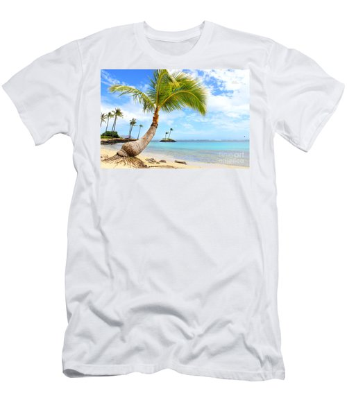 Hawaiian Paradise Men's T-Shirt (Slim Fit) by Kristine Merc
