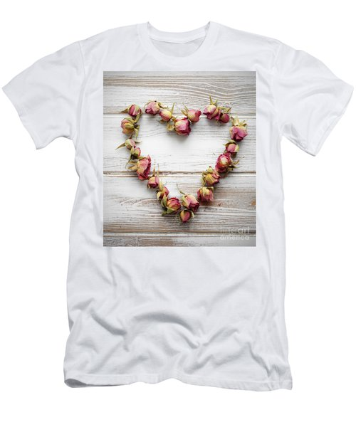 Heart From Dry Rose Buds Men's T-Shirt (Athletic Fit)