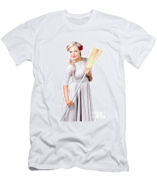 Housemaid With Broom Men's T-Shirt (Athletic Fit)
