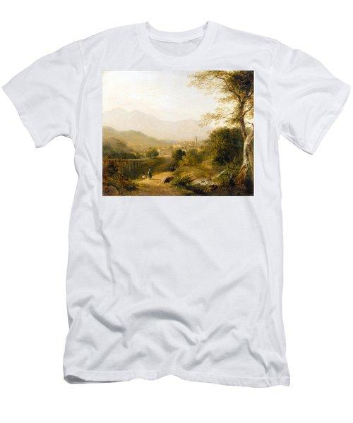 Italian Landscape Men's T-Shirt (Athletic Fit)