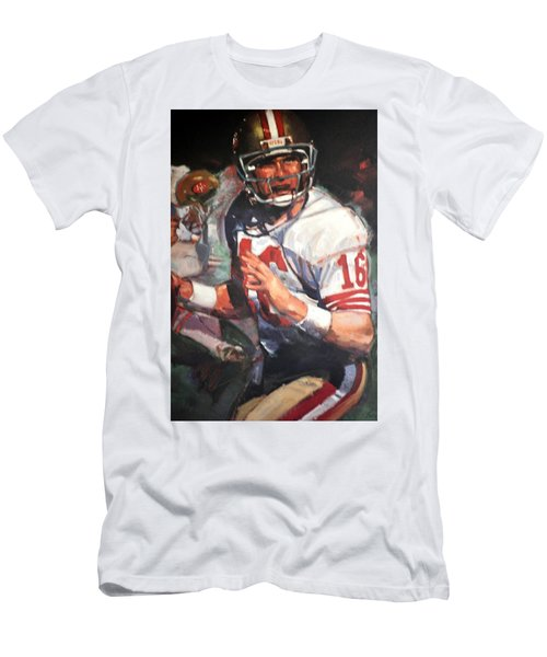 Joe Montana Men's T-Shirt (Slim Fit) by Jay Milo