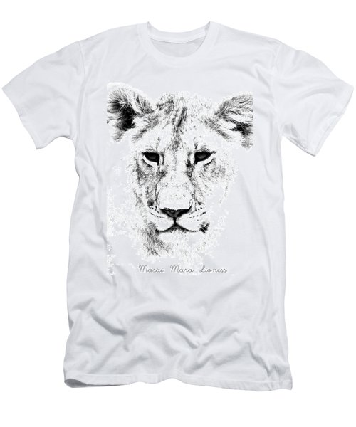 Men's T-Shirt (Athletic Fit) featuring the photograph Lion Portrait by Aidan Moran