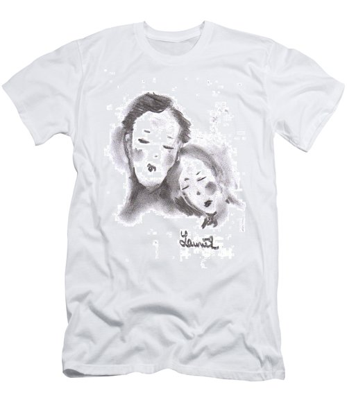 Men's T-Shirt (Athletic Fit) featuring the drawing Love by Laurie L