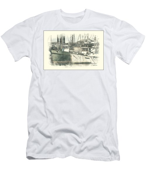 Moored Fishing Boats Men's T-Shirt (Athletic Fit)