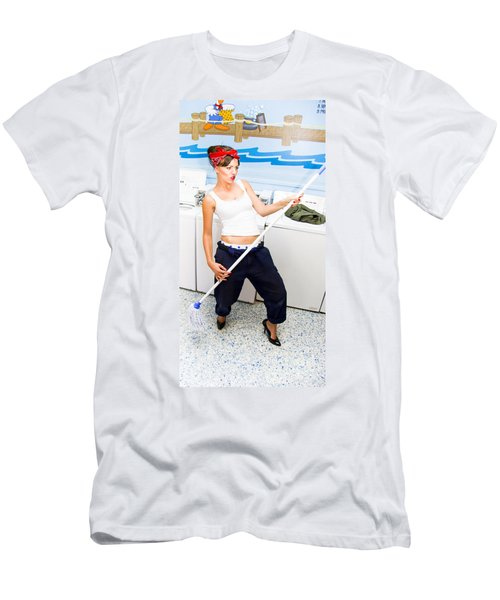 Mop And Roll Men's T-Shirt (Athletic Fit)