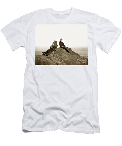 Men's T-Shirt (Slim Fit) featuring the photograph Mount Tamalpais Marin County  Circa 1902 by California Views Mr Pat Hathaway Archives