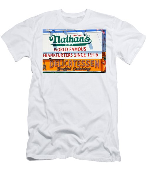 Nathan's Sign Men's T-Shirt (Slim Fit) by Valentino Visentini