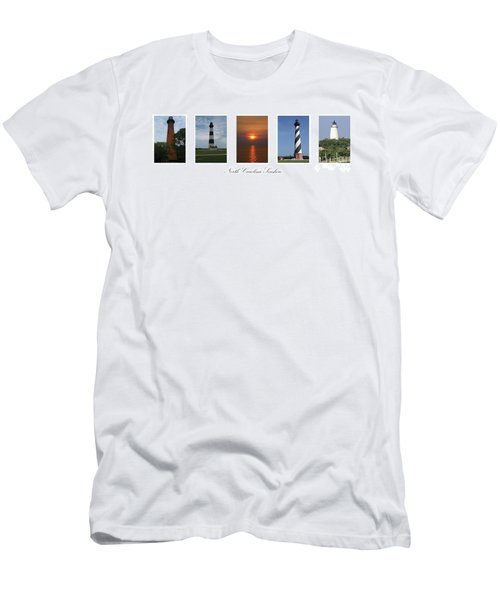North Carolina Seashore Men's T-Shirt (Slim Fit) by Tony Cooper