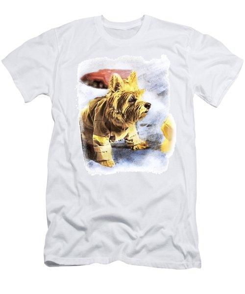 Norwich Terrier Fire Dog Men's T-Shirt (Slim Fit) by Susan Stone