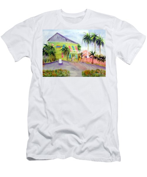 Old Key Lime House Men's T-Shirt (Slim Fit) by Donna Walsh
