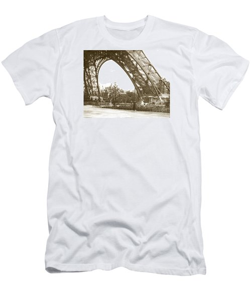 Men's T-Shirt (Slim Fit) featuring the photograph Paris Exposition Eiffel Tower Paris France 1900  Historical Photos by California Views Mr Pat Hathaway Archives