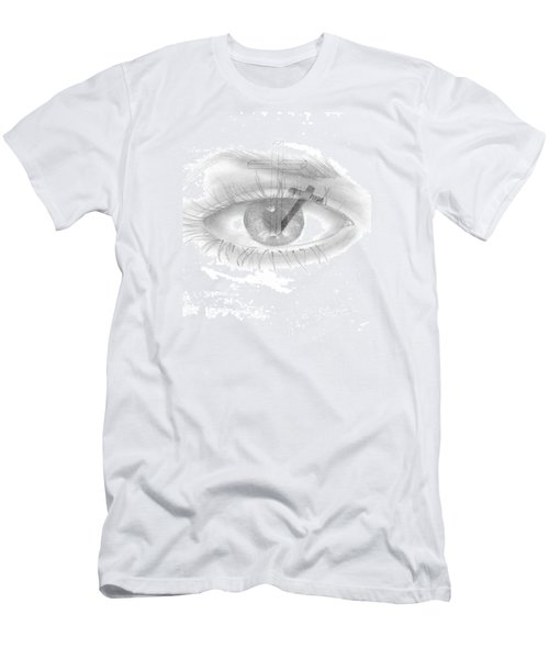 Plank In Eye Men's T-Shirt (Slim Fit) by Terry Frederick
