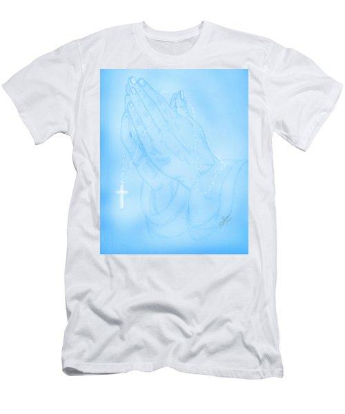 Praying Hands  Men's T-Shirt (Athletic Fit)