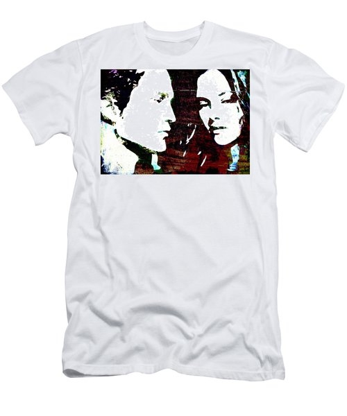 Men's T-Shirt (Slim Fit) featuring the mixed media Robsten by Svelby Art