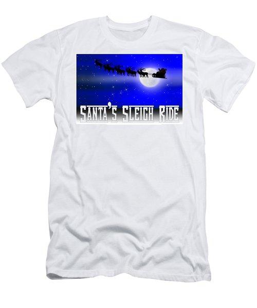 Santa's Sleigh Ride Men's T-Shirt (Athletic Fit)