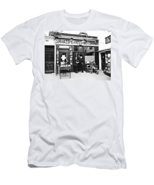 Shakespeare And Company Bookstore In Paris France Men's T-Shirt (Athletic Fit)
