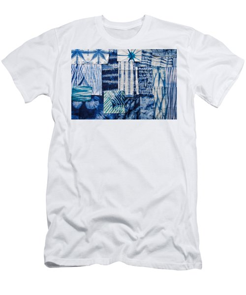 Shibori Patchwork Indigo Men's T-Shirt (Athletic Fit)