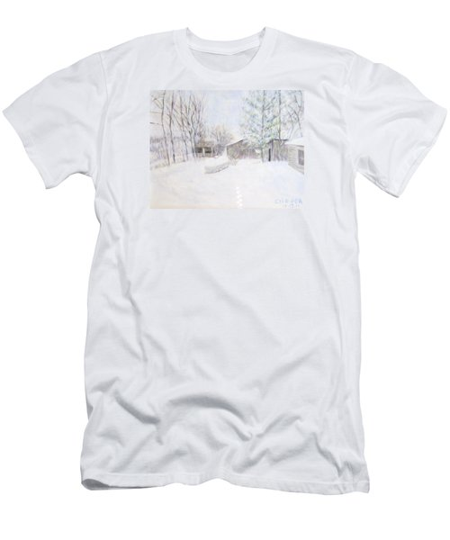 Snowy February Day Men's T-Shirt (Athletic Fit)