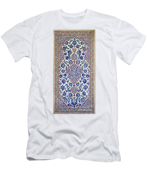 Sultan Selim II Tomb 16th Century Hand Painted Wall Tiles Men's T-Shirt (Athletic Fit)