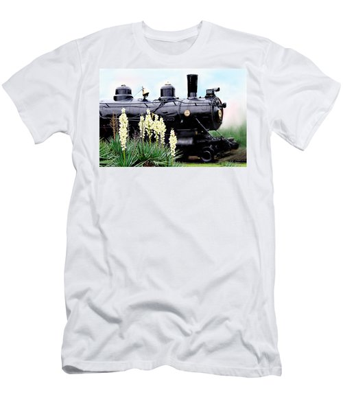 The Black Steam Engine Men's T-Shirt (Athletic Fit)