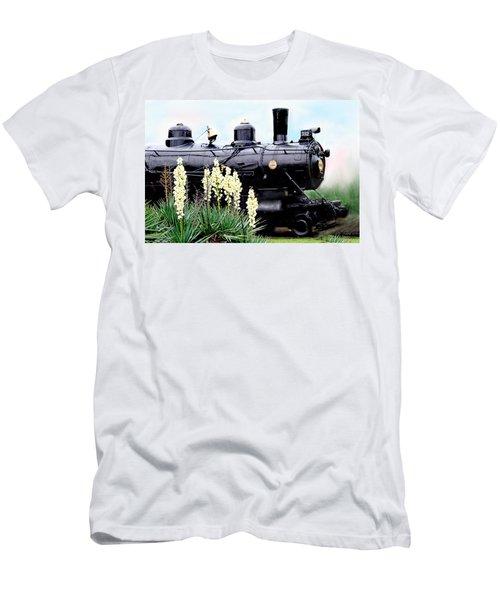 The Black Steam Engine Men's T-Shirt (Athletic Fit)