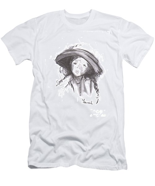 Men's T-Shirt (Athletic Fit) featuring the drawing The Bonnet by Laurie Lundquist