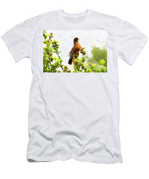 The Robin Sings Men's T-Shirt (Athletic Fit)