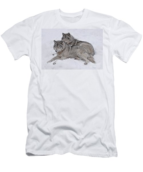 Timber Wolf Pair Men's T-Shirt (Athletic Fit)