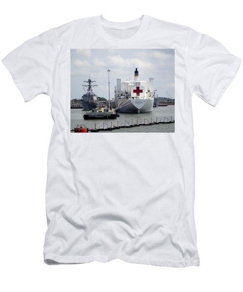 Us Naval Hospital Ship Comfort Men's T-Shirt (Athletic Fit)