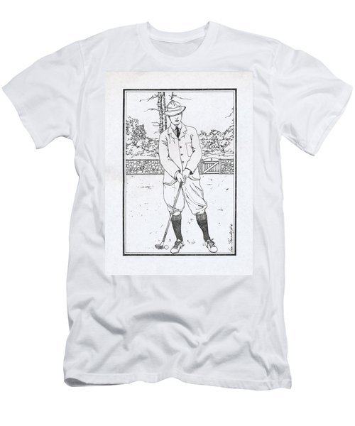 Vintage Golfer Men's T-Shirt (Slim Fit) by Ira Shander