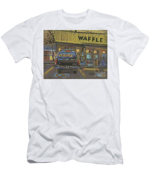 Men's T-Shirt (Slim Fit) featuring the painting Waffle House by Donald Maier