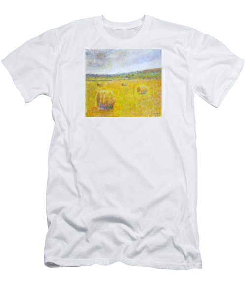 Wheat Bales At Harvest Men's T-Shirt (Athletic Fit)