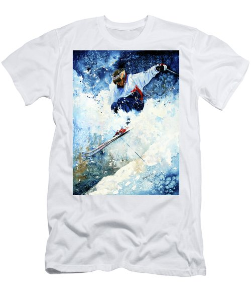 Men's T-Shirt (Athletic Fit) featuring the painting White Magic by Hanne Lore Koehler