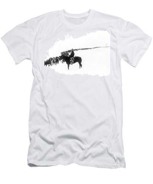 Wintertime Cattle Drive Men's T-Shirt (Athletic Fit)