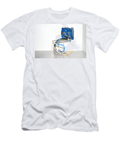Men's T-Shirt (Slim Fit) featuring the photograph Wire Box by Henrik Lehnerer