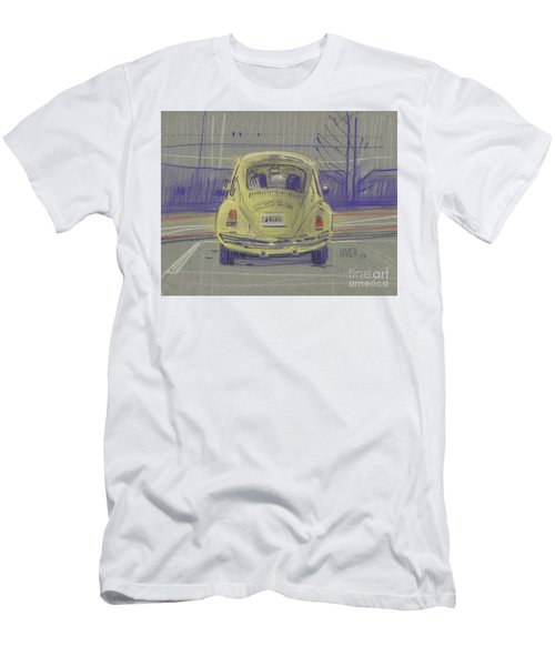 Men's T-Shirt (Slim Fit) featuring the painting Yellow Beetle by Donald Maier