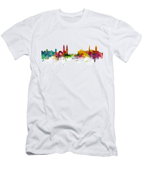 Zurich Switzerland Skyline Men's T-Shirt (Athletic Fit)
