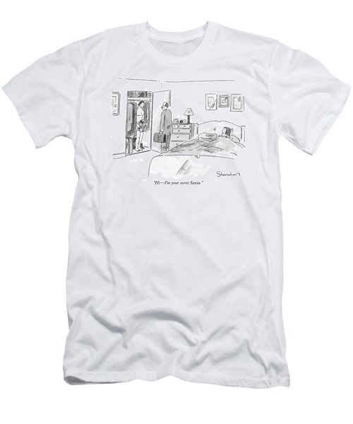 Hi - I'm Your Secret Santa Men's T-Shirt (Athletic Fit)