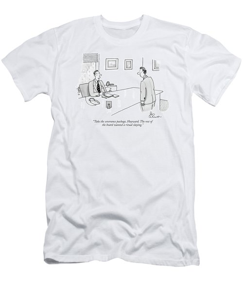 Take The Severance Package Men's T-Shirt (Athletic Fit)